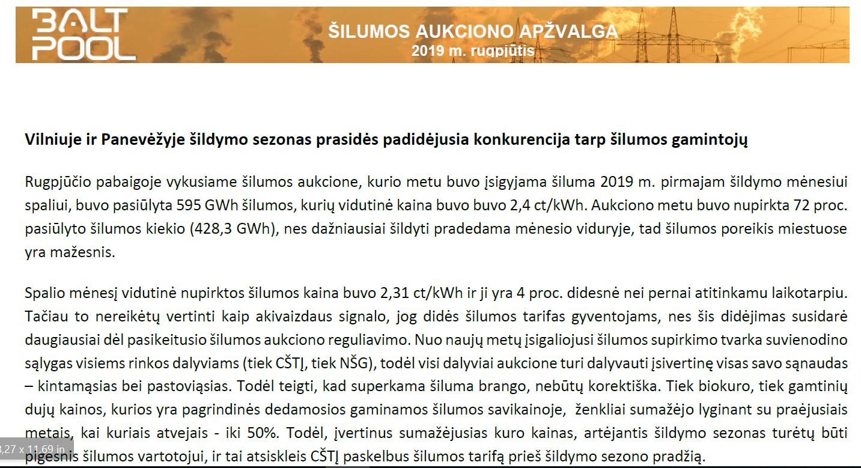Vilniuje ir Panevėžyje šildymo sezonas prasidės padidėjusia konkurencija tarp šilumos gamintojų